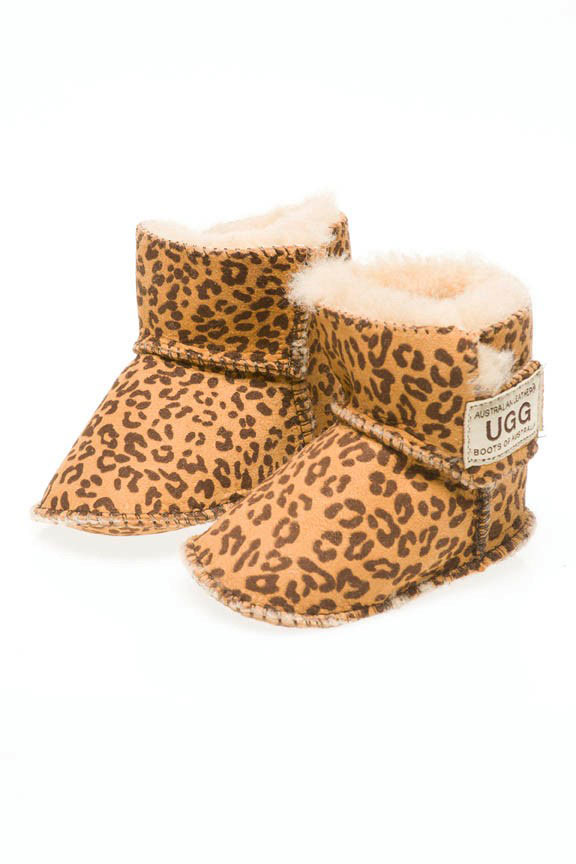 ab729a3d848 Ugg Boots Baby Booties Leopard - Gee Sheepskin