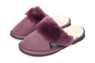 1b49306e00f Ugg Boots Fur Trimmed Scuffs Raisin - Gee Sheepskin