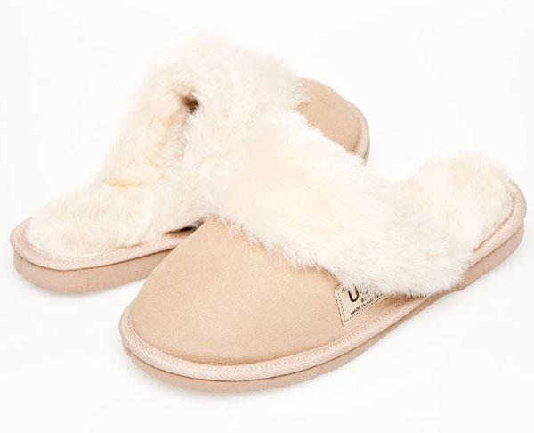 d893eab8e98 Ugg Boots Fur Trimmed Scuffs Natural - Gee Sheepskin