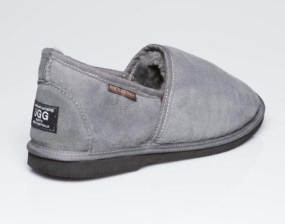 428a27ee46b Ugg Boots Mens Slipper Grey - Gee Sheepskin